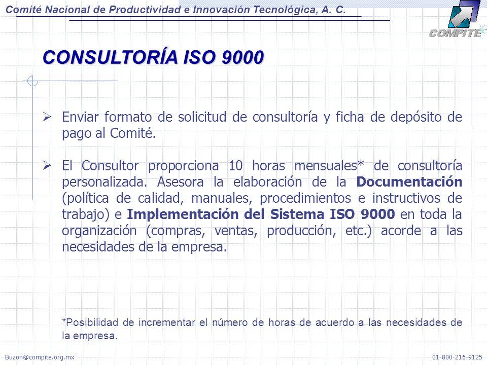 Comité Nacional de Productividad e Innovación Tecnológica, A. C. CONSULTORÍA ISO 9000.