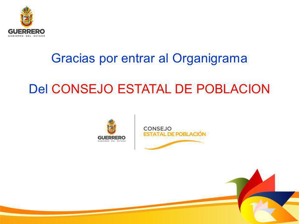 Gracias por entrar al Organigrama Del CONSEJO ESTATAL DE POBLACION