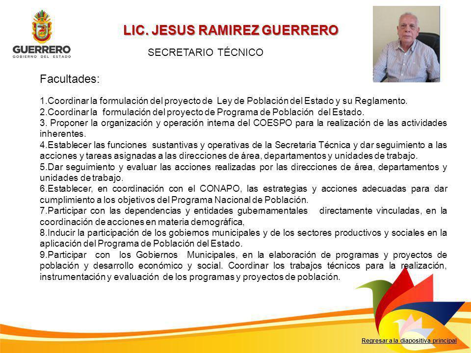 LIC. JESUS RAMIREZ GUERRERO