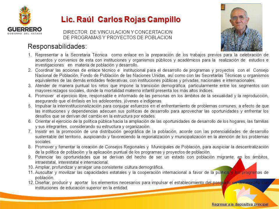Lic. Raúl Carlos Rojas Campillo
