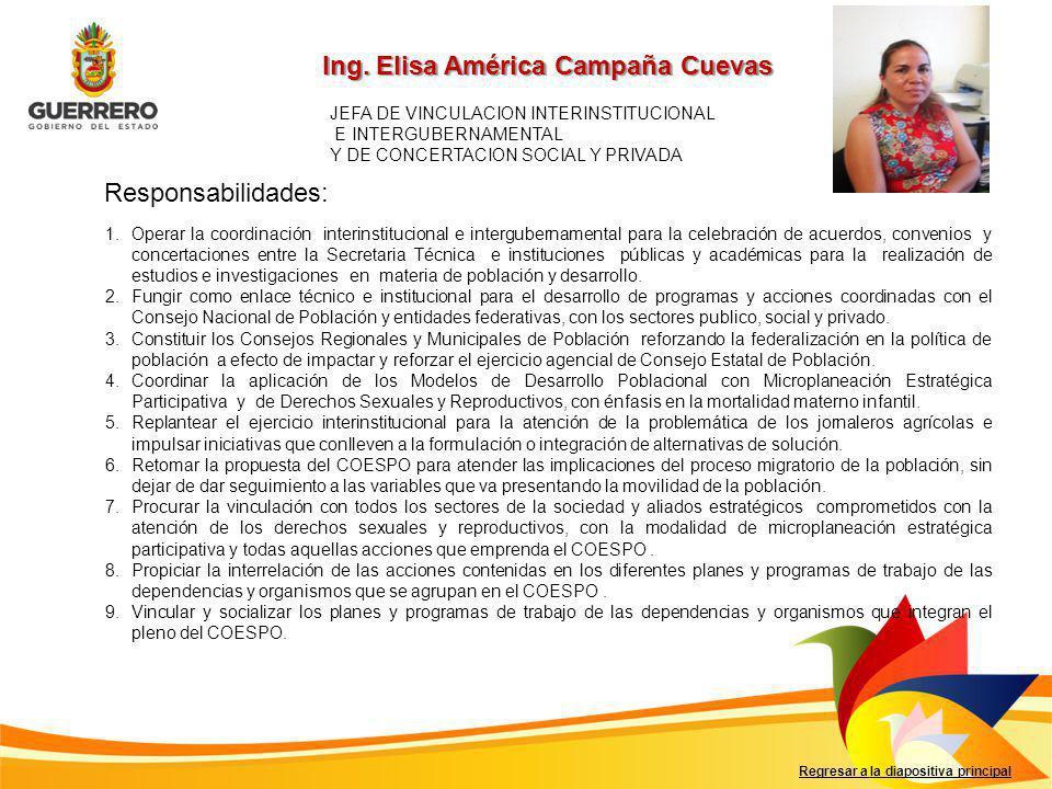 Ing. Elisa América Campaña Cuevas