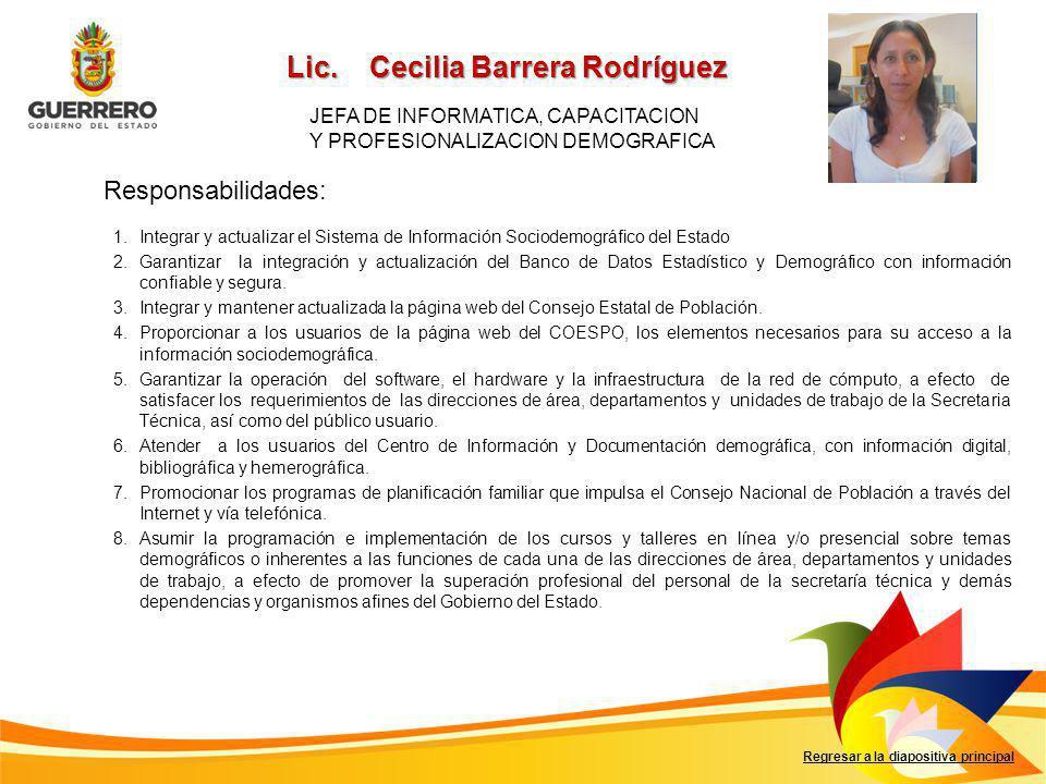 Lic. Cecilia Barrera Rodríguez