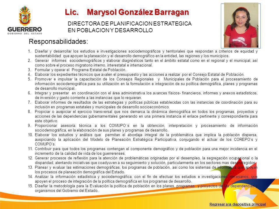 Lic. Marysol González Barragan