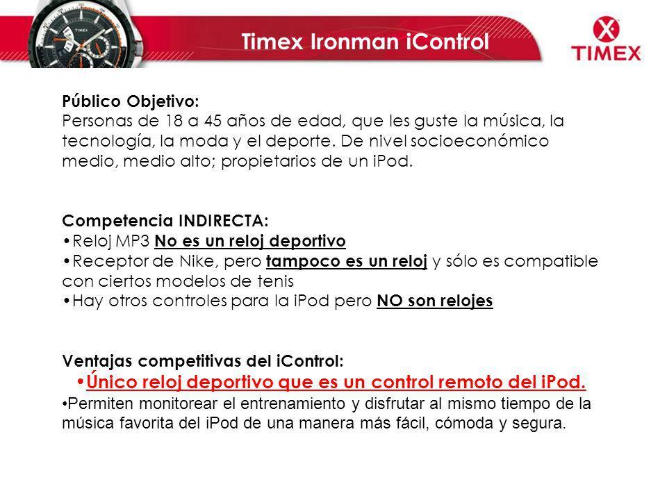 Único reloj deportivo que es un control remoto del iPod.
