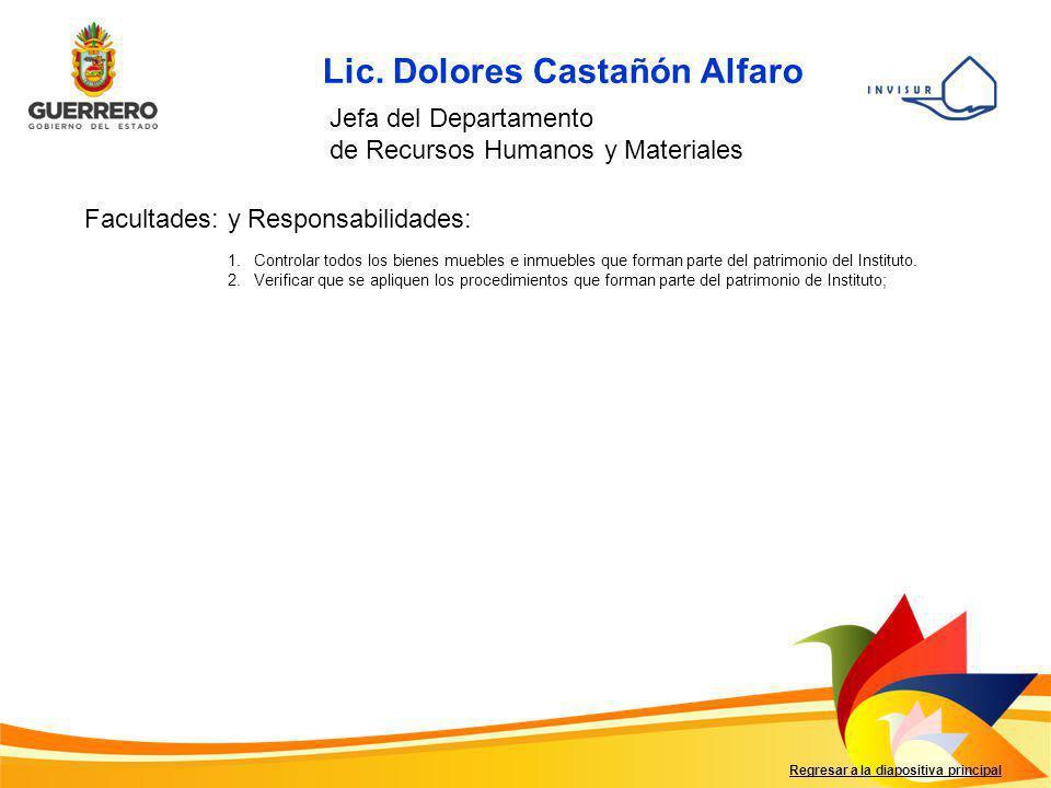 Lic. Dolores Castañón Alfaro