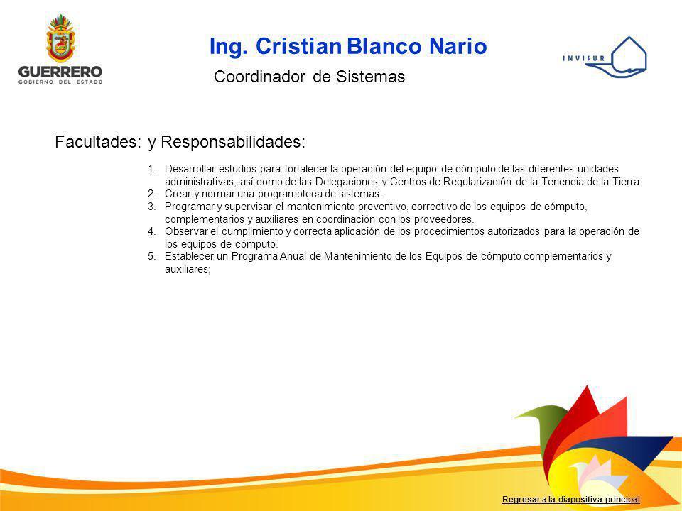 Ing. Cristian Blanco Nario