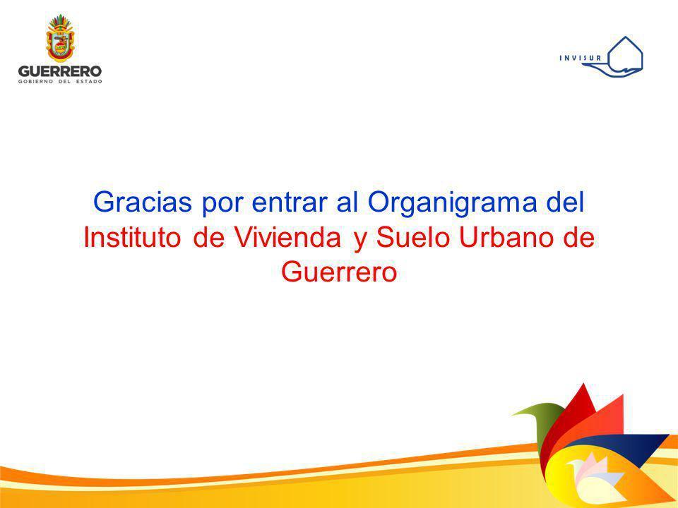 Gracias por entrar al Organigrama del Instituto de Vivienda y Suelo Urbano de Guerrero