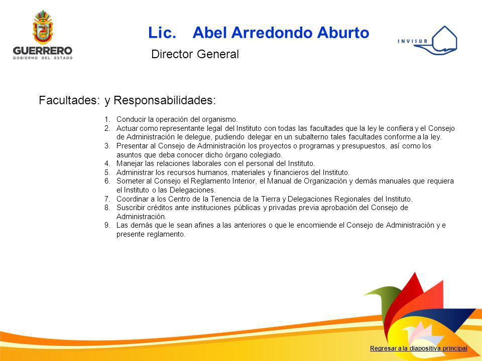 Lic. Abel Arredondo Aburto