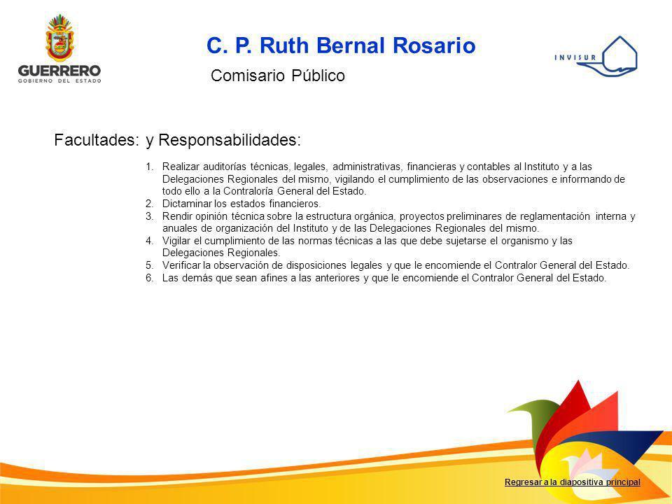 C. P. Ruth Bernal Rosario Comisario Público