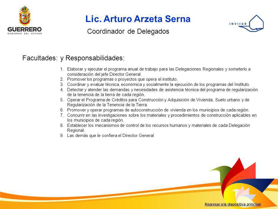 Lic. Arturo Arzeta Serna