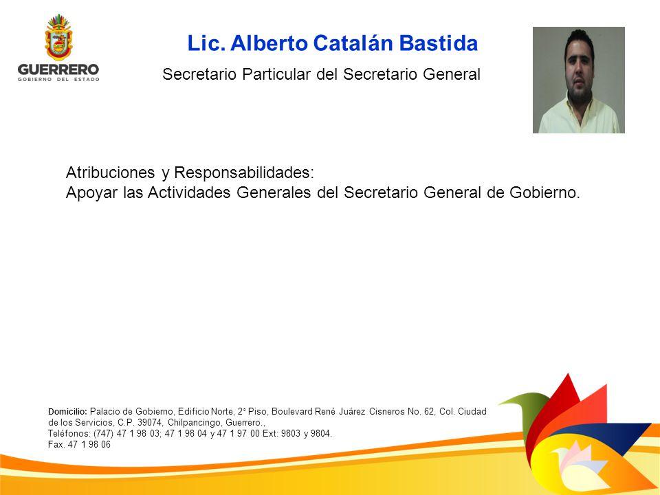 Lic. Alberto Catalán Bastida