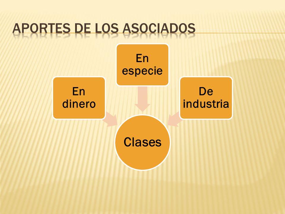 APORTES DE LOS ASOCIADOS
