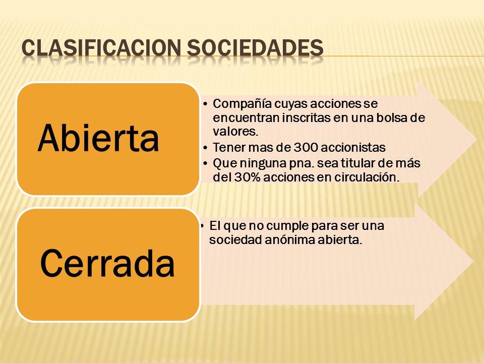 CLASIFICACION SOCIEDADES
