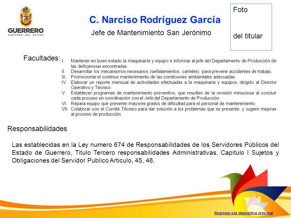 C. Narciso Rodríguez García