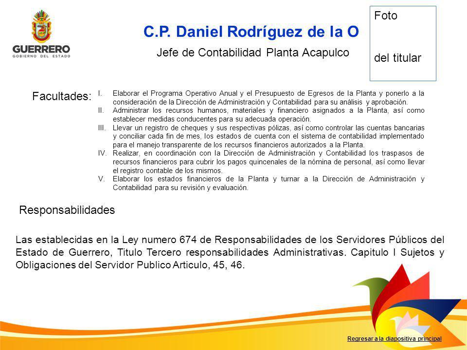 Jefe de Contabilidad Planta Acapulco