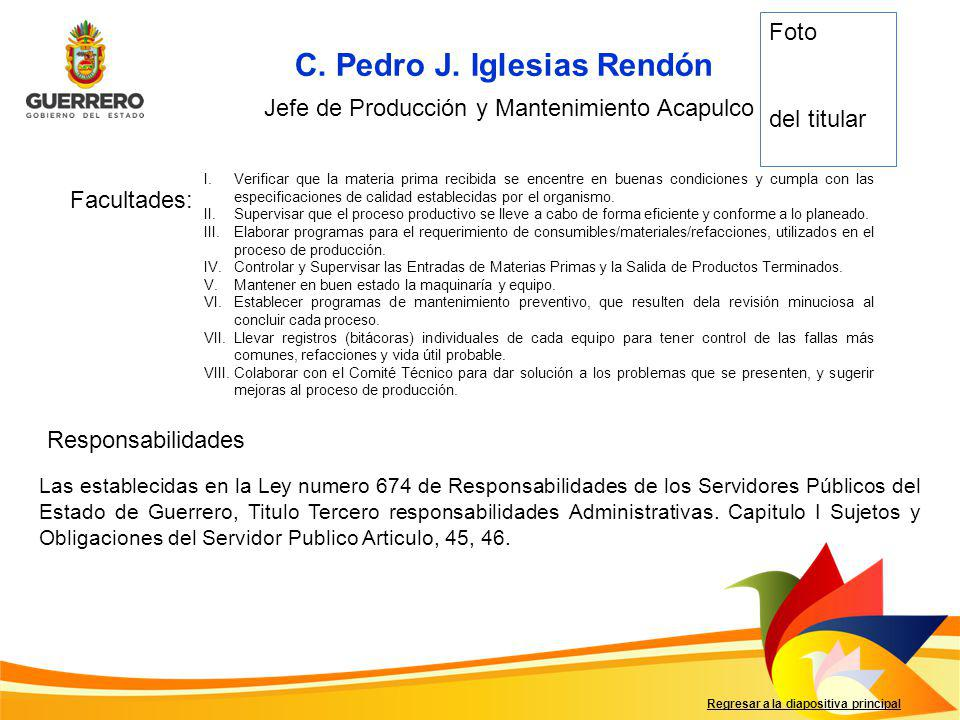 C. Pedro J. Iglesias Rendón