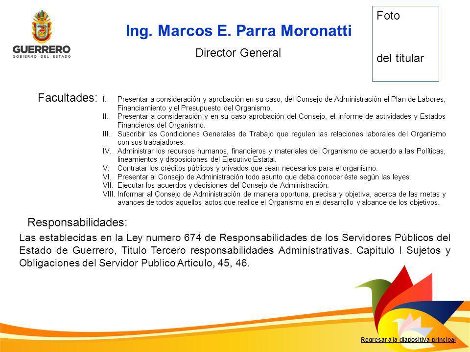 Ing. Marcos E. Parra Moronatti