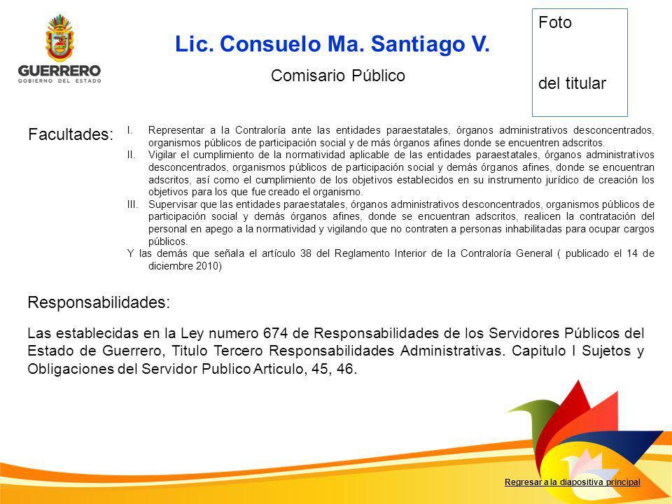 Lic. Consuelo Ma. Santiago V.