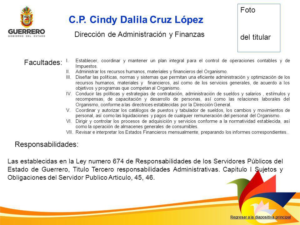 Dirección de Administración y Finanzas