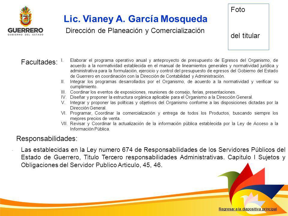 Lic. Vianey A. García Mosqueda
