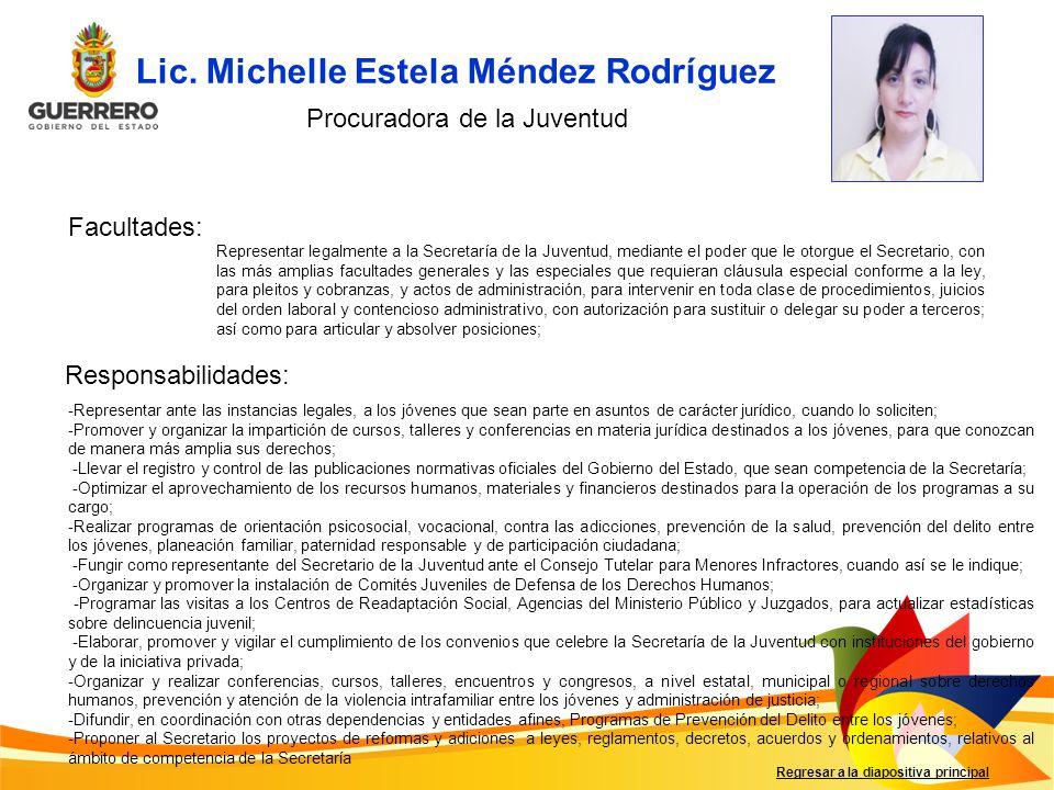 Lic. Michelle Estela Méndez Rodríguez