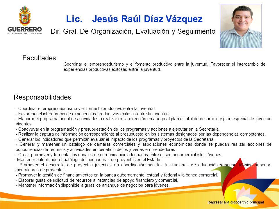 Lic. Jesús Raúl Díaz Vázquez