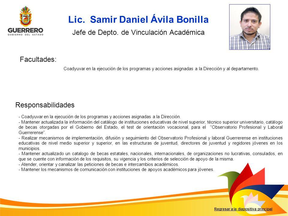 Lic. Samir Daniel Ávila Bonilla