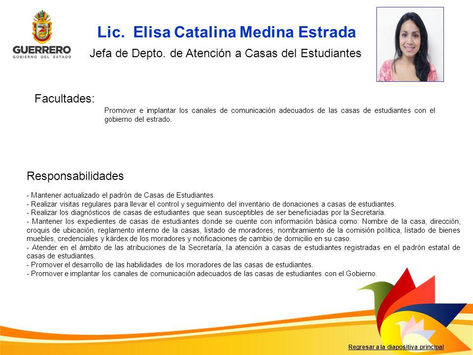 Lic. Elisa Catalina Medina Estrada