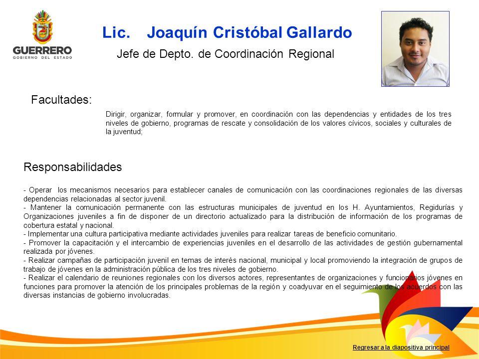 Lic. Joaquín Cristóbal Gallardo