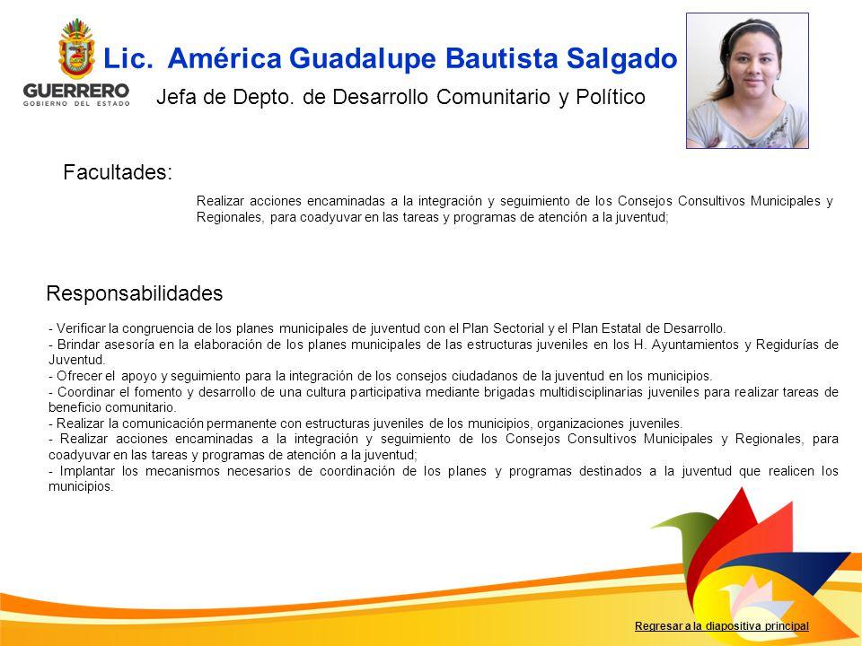 Lic. América Guadalupe Bautista Salgado