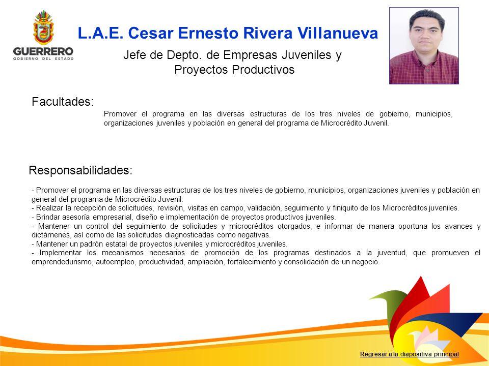 L.A.E. Cesar Ernesto Rivera Villanueva
