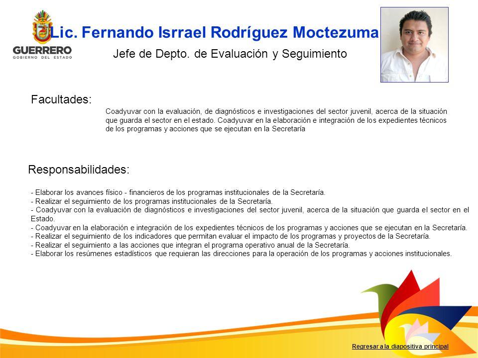 Lic. Fernando Isrrael Rodríguez Moctezuma