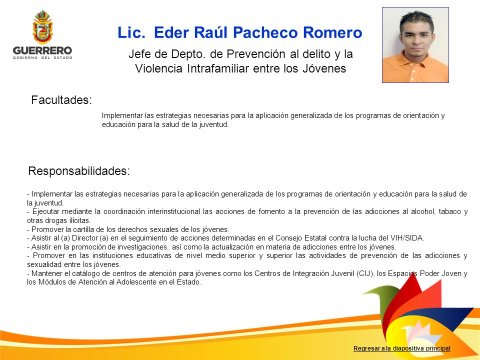 Lic. Eder Raúl Pacheco Romero