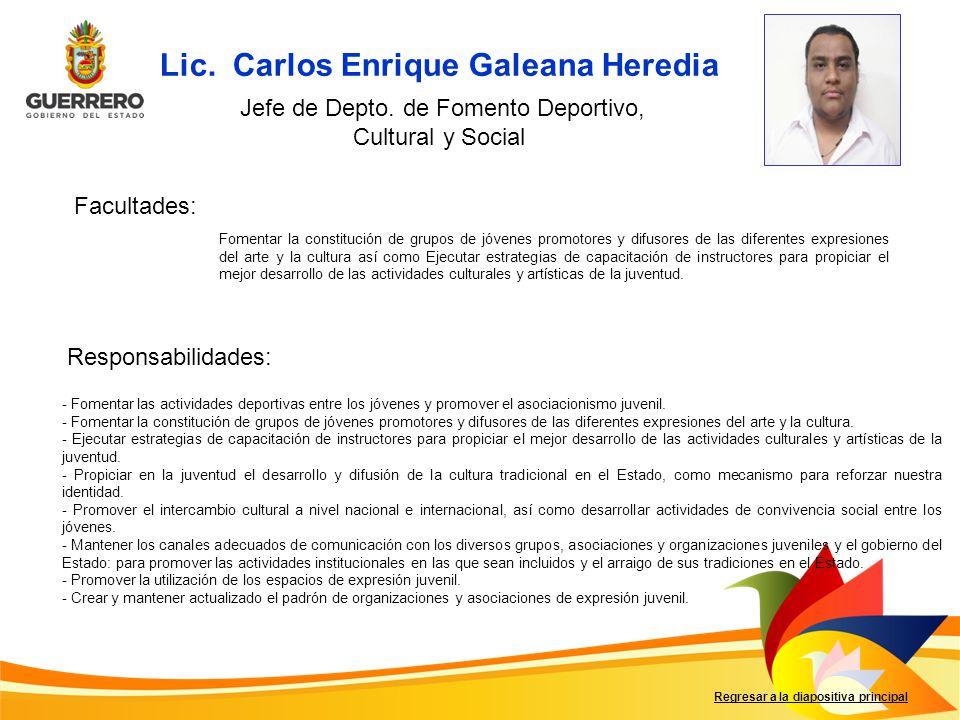 Lic. Carlos Enrique Galeana Heredia