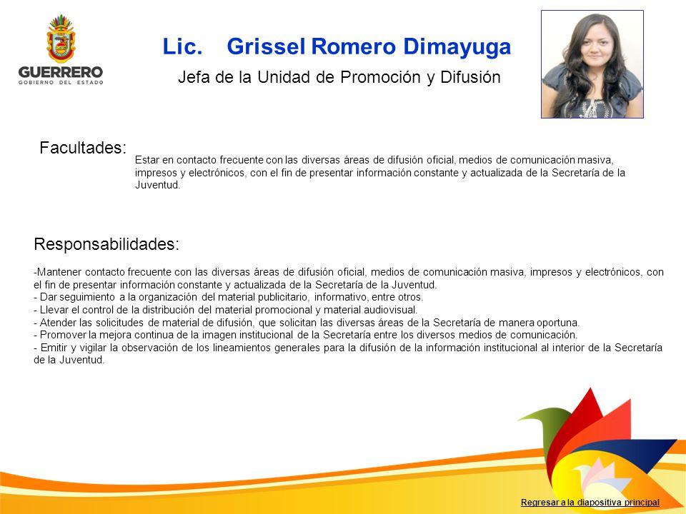 Lic. Grissel Romero Dimayuga