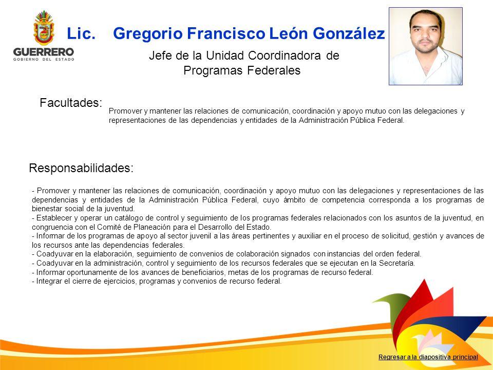Lic. Gregorio Francisco León González