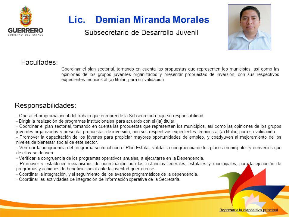 Lic. Demian Miranda Morales