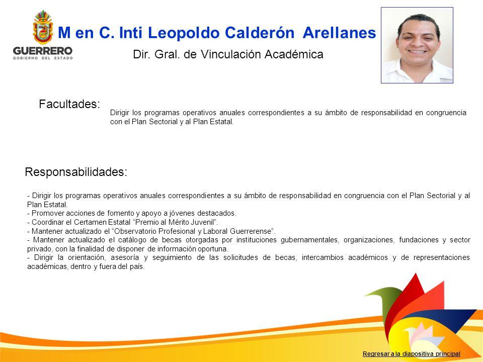 M en C. Inti Leopoldo Calderón Arellanes