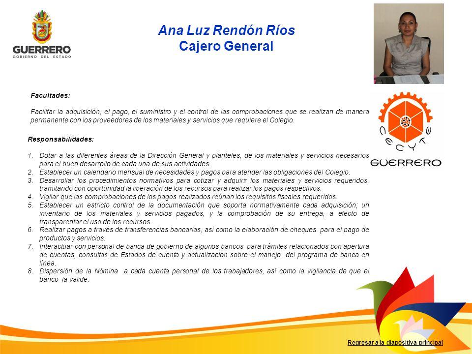 Ana Luz Rendón Ríos Cajero General
