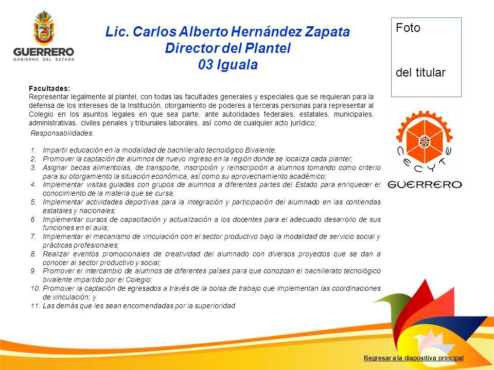 Lic. Carlos Alberto Hernández Zapata
