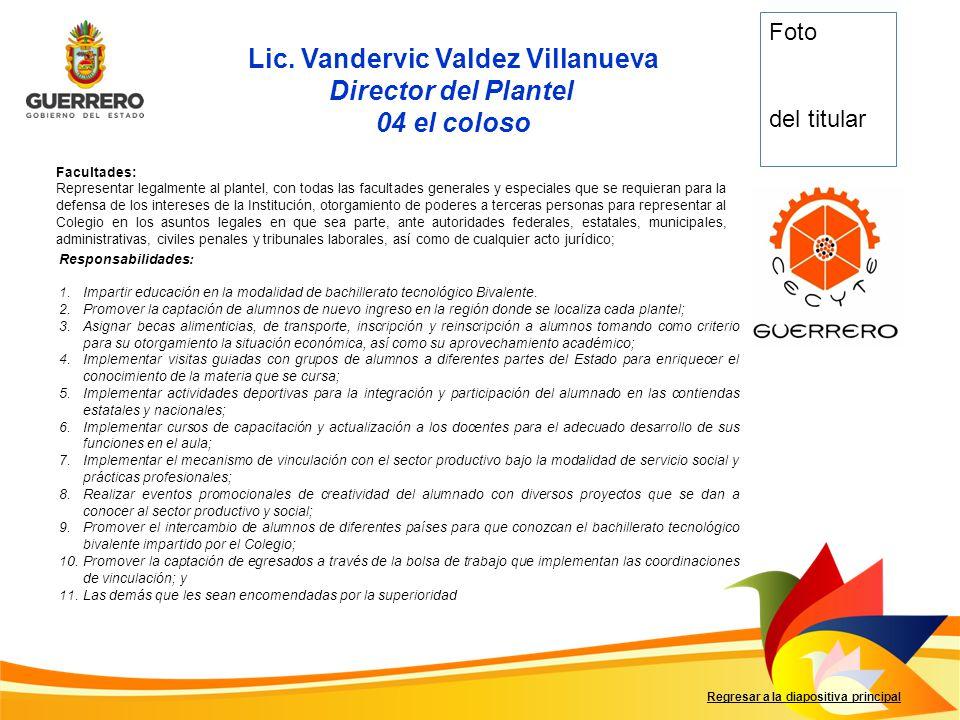 Lic. Vandervic Valdez Villanueva