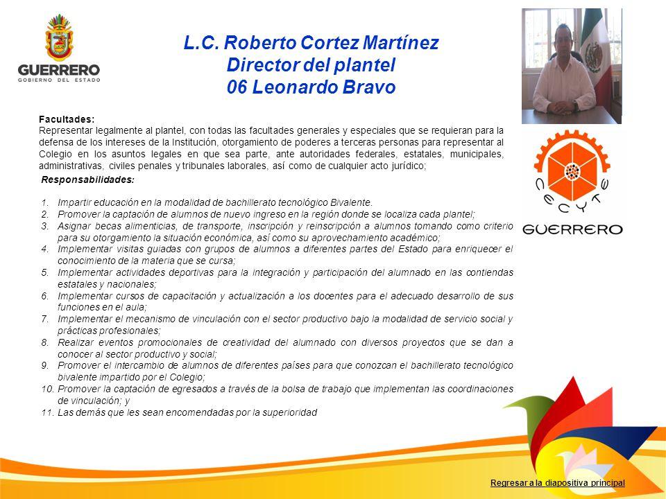 L.C. Roberto Cortez Martínez