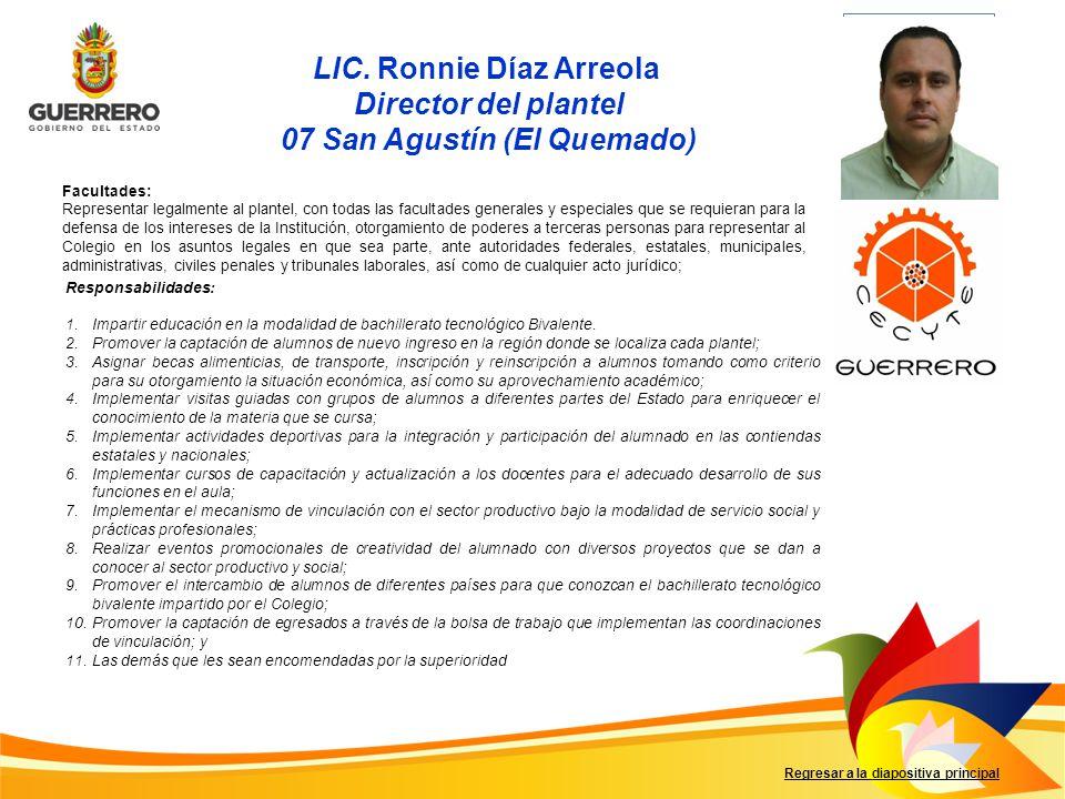 LIC. Ronnie Díaz Arreola 07 San Agustín (El Quemado)