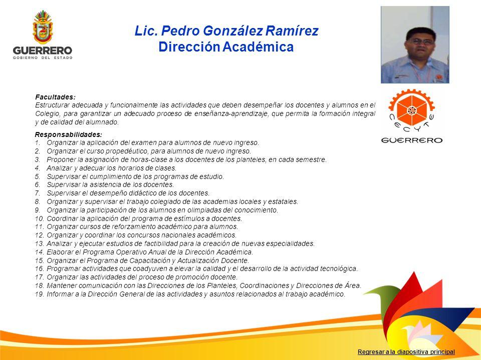 Lic. Pedro González Ramírez