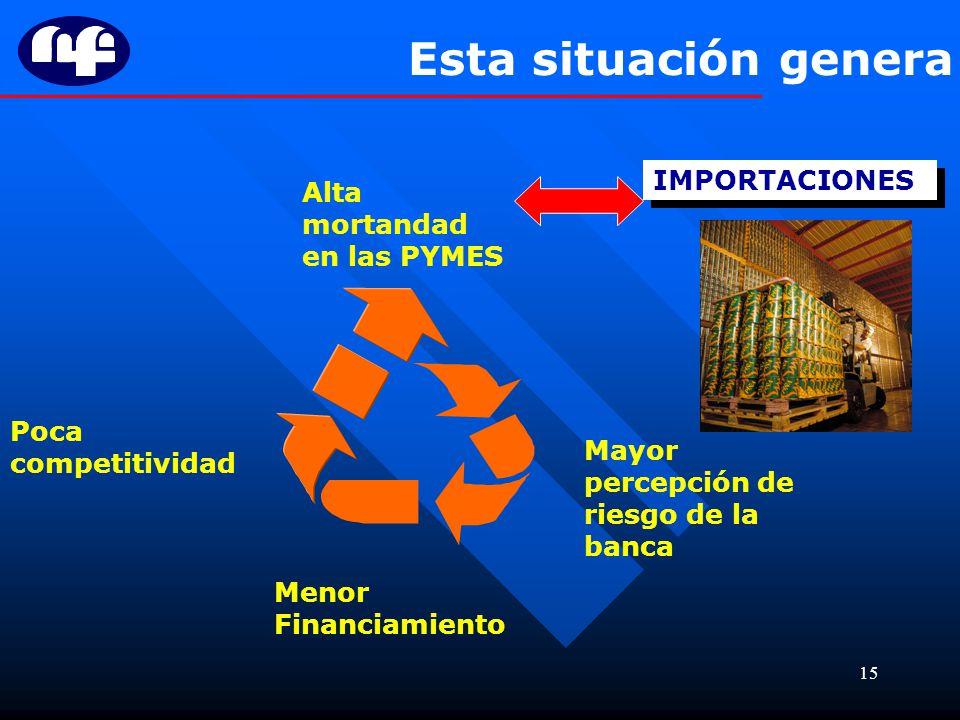 Esta situación genera IMPORTACIONES Alta mortandad en las PYMES
