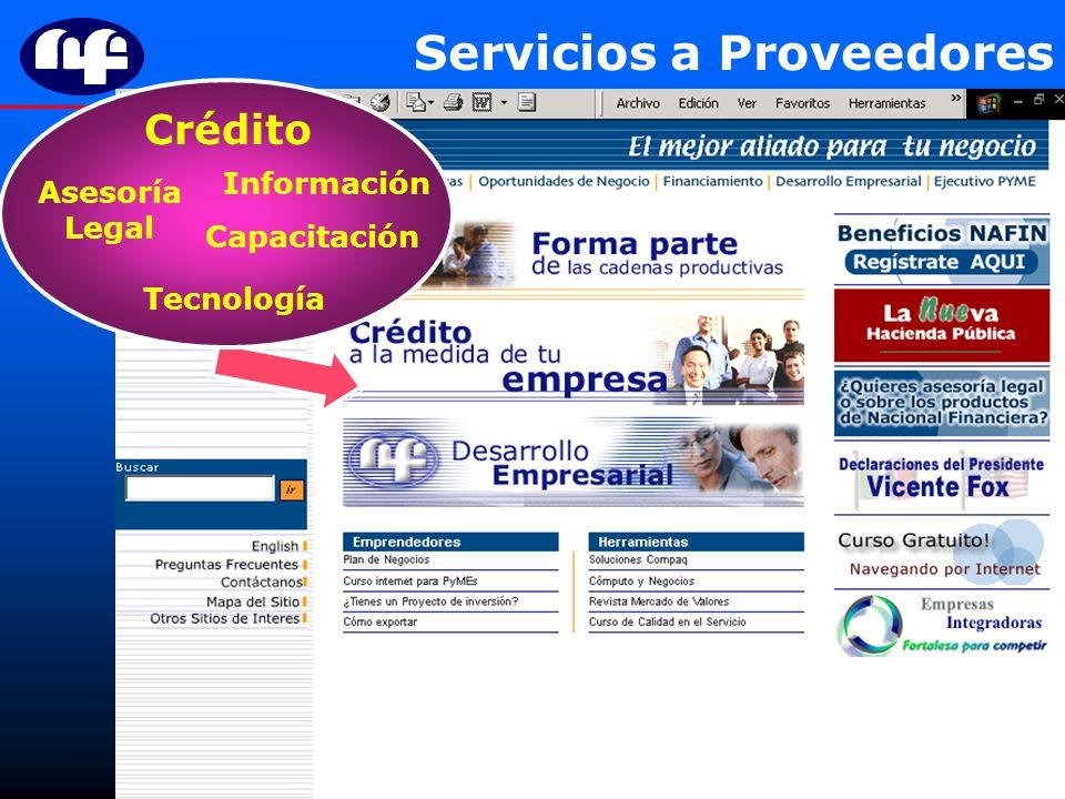 Servicios a Proveedores