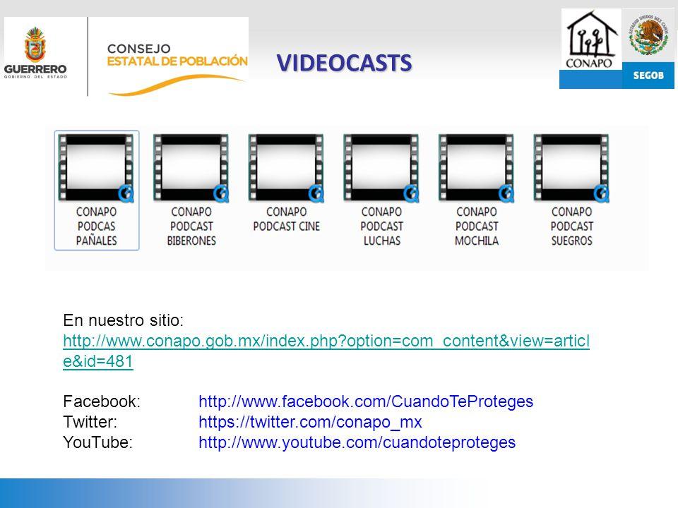 VIDEOCASTS En nuestro sitio: