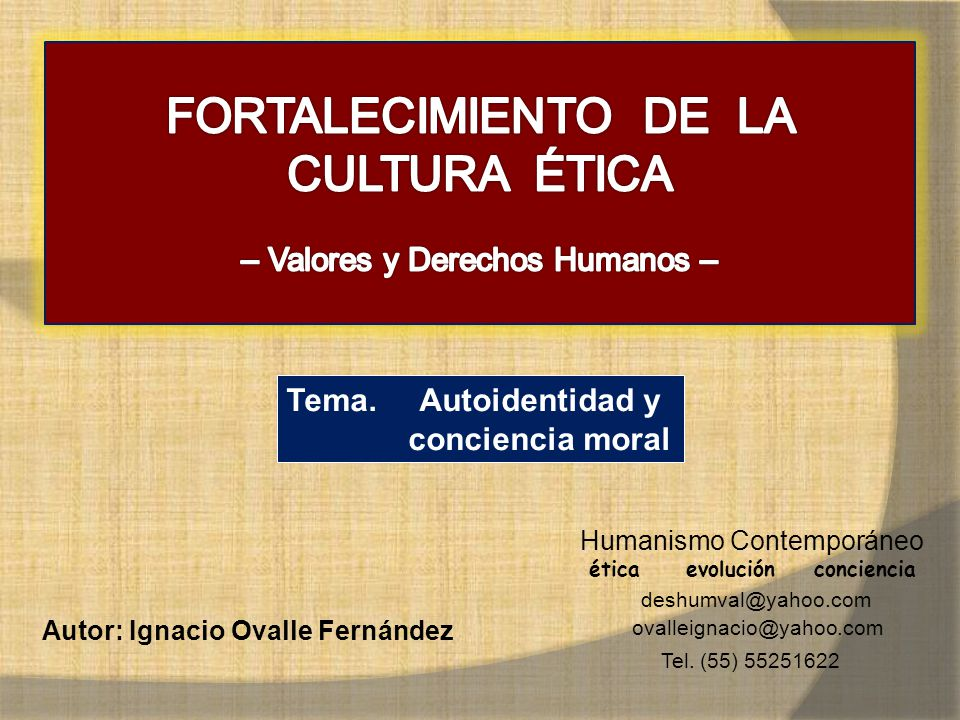 FORTALECIMIENTO DE LA CULTURA ÉTICA
