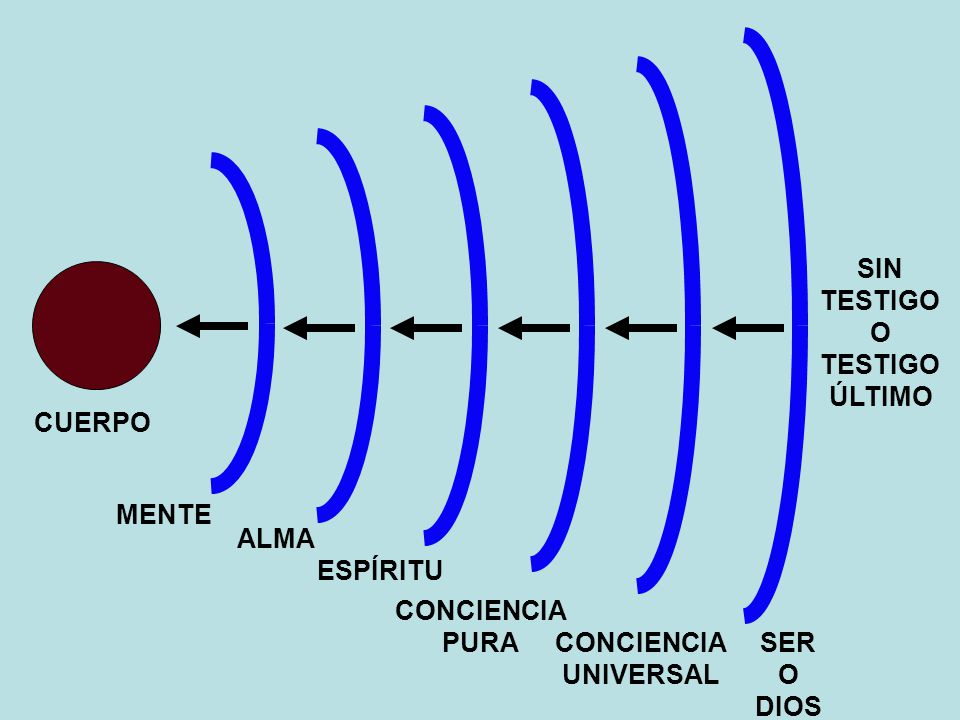 SER O DIOS CONCIENCIA UNIVERSAL CONCIENCIA PURA ESPÍRITU ALMA MENTE SIN TESTIGO O ÚLTIMO CUERPO