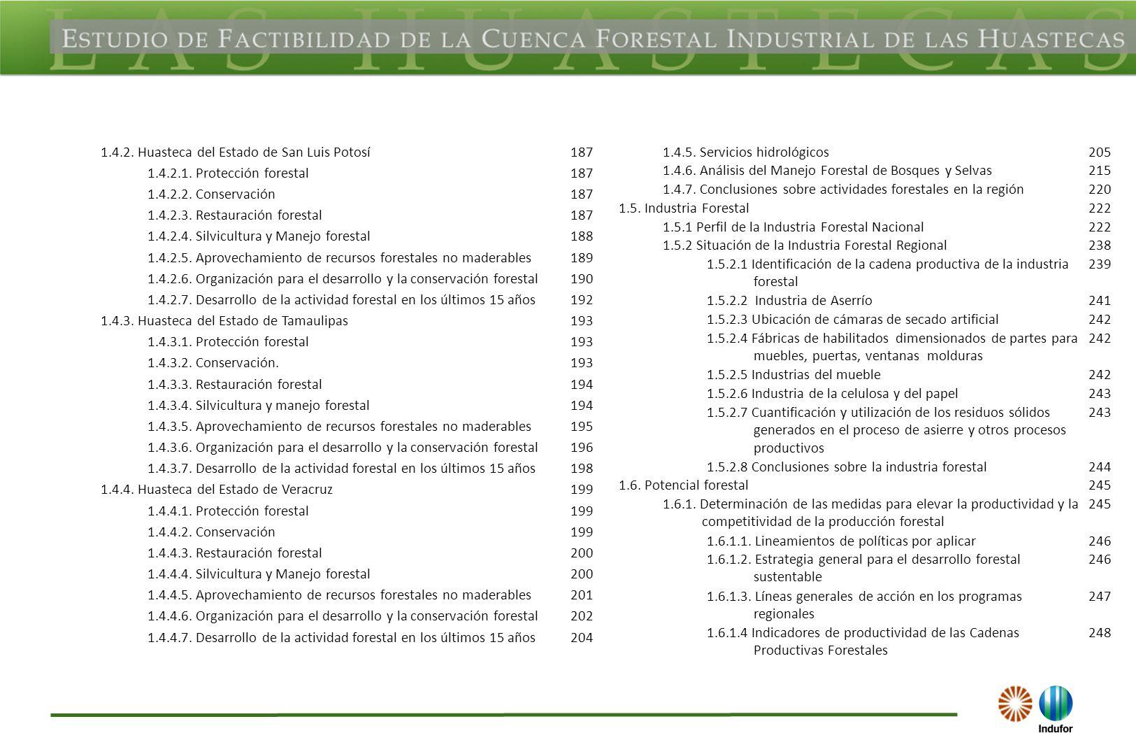 1.4.2. Huasteca del Estado de San Luis Potosí